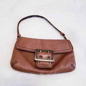Banana republic mini brown leather purse 54023